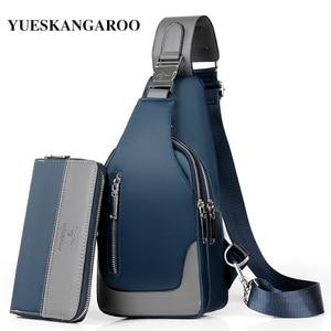 Image 1 - Brand Chest Pack Men Casual Shoulder Crossbody Bag USB Charging Chest Bag Waterproof Oxford Travel Sling Bag Messenger Bag Male