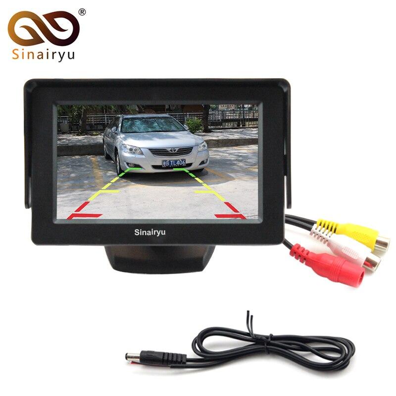 Sinairyu 4.3 inch Desktop Digital LED Backlight TFT mirror LCD car Monitor with 2 Video input