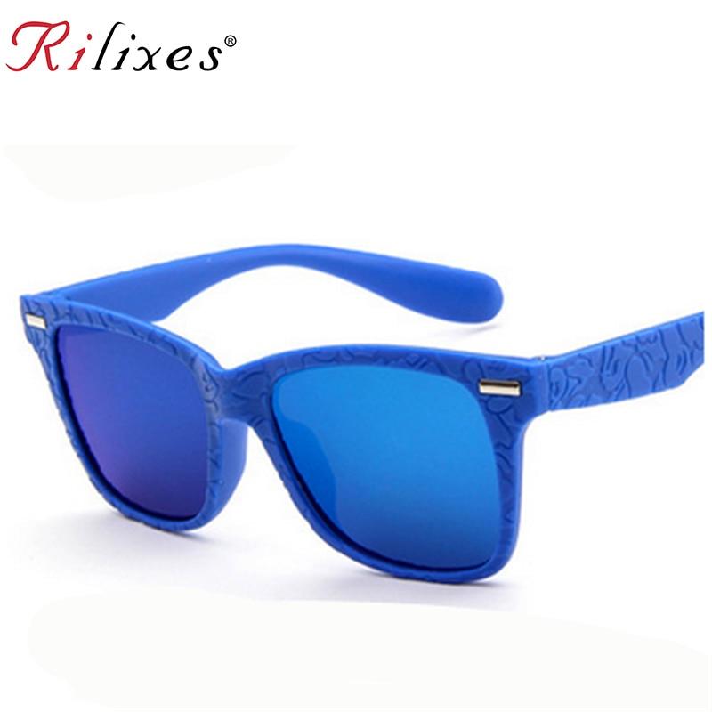 Rilixes 2018 Kinder Sonnenbrille Marke Design Sonnenbrille Für Kinder Jungen Mädchen Mode Eyewares Objektiv Uv 400 Schutz Mit Tasche