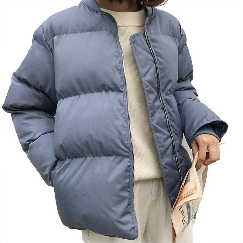 Slim Épaisse Chaud Femmes Hiver Manteau Capuche Coton Parkas bleu Outwearshort Ouatée Neige Beige noir Veste Rembourré pWPtA4P