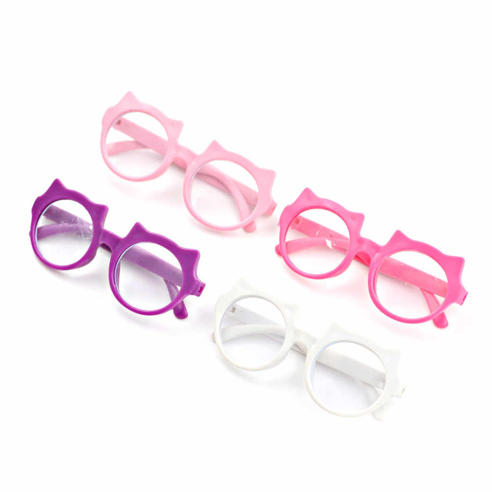 1-10PCS Round Frame Lensless Retro Cool Doll Glasses For BJD Doll 1/6 30cm Doll Accessories Fashion