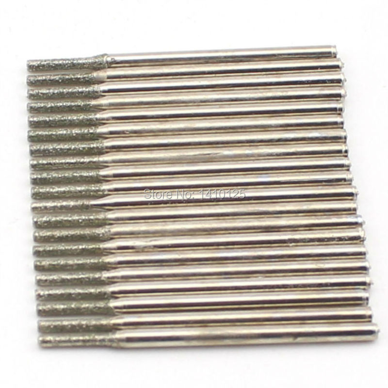 20 Pcs Diamètre 1mm Galvanoplastie Diamant Enduit Scie Trou Forage - Foret - Photo 3