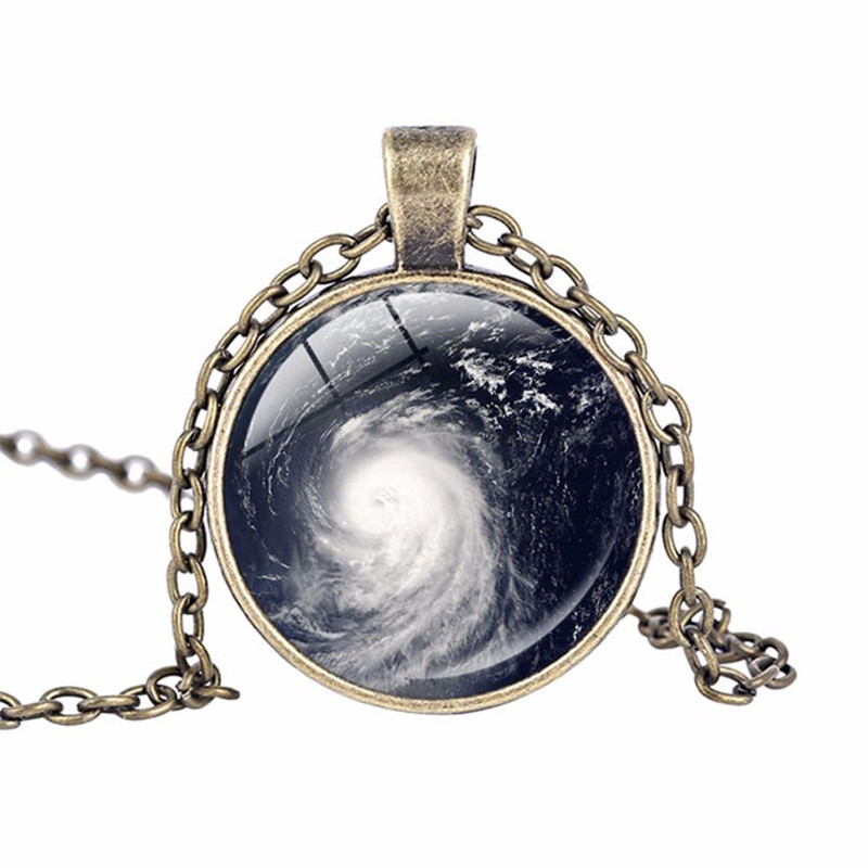 Storm Necklace Tornado pendant Twister Storm Chaser Wizard of Oz Art Pendants Glass Cabo ...