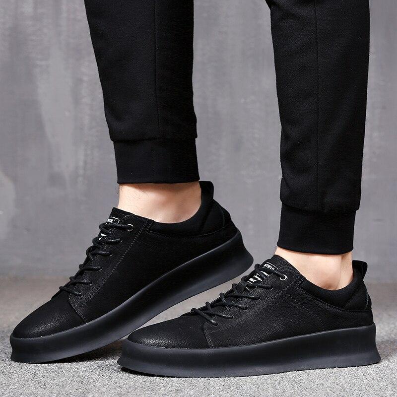 2019 Leder Bequeme Weiche Echtem Sport Schwarzes Mycolen Mens Chaussure Jugend Casual Hommes Männer Schuhe Aus Mode Marke 0w7qdf7g