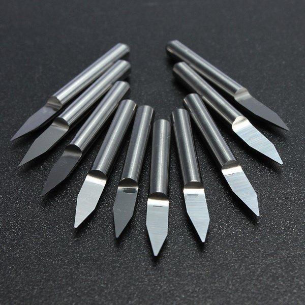 10pcs Carbide PCB Board 0.3mm 30 Degree Engraving Bits CNC Router Tool V-shape