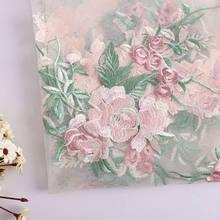 Aplique bordado de flores em patches para vestir, decoração de alta qualidade, 1 peça