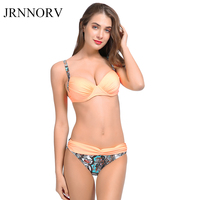 JRNNORV Sexy Bikinis Women Swimsuit 2018 Summer Low Waist Bathing Suits Halter Top Push Up Bikini