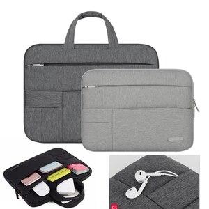 Image 2 - Männer Frauen Tragbare Notebook Handtasche Air Pro 11 12 13 14 15,6 Laptop Tasche/Sleeve Fall Für Dell HP macbook Xiaomi Oberfläche pro 3 4