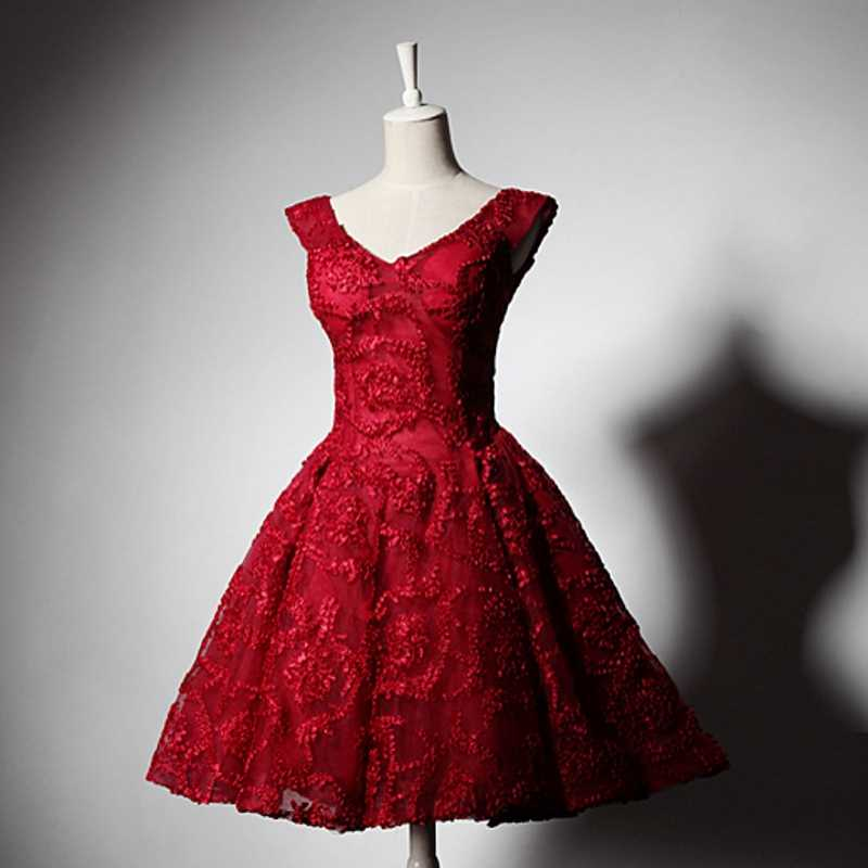 Red Short Homecoming Dresses Cocktail