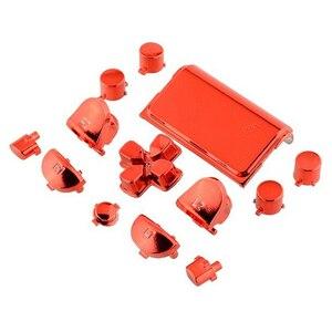 Image 2 - 13 pçs bullet button thumbstick boné metal chapeamento de ouro para ps4 dualshock 4 pro controlador