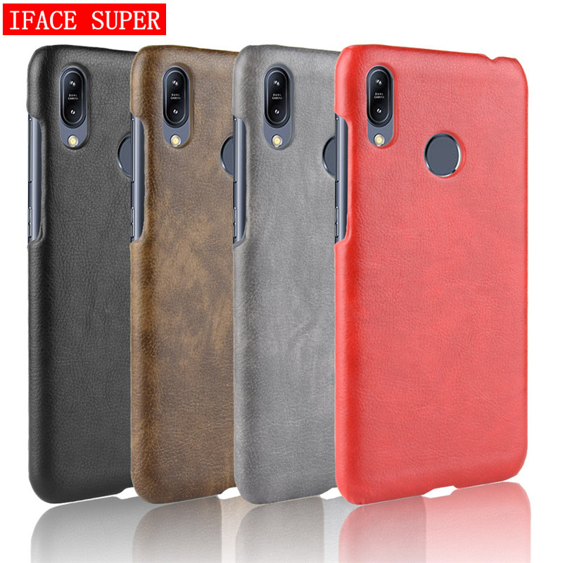 For Asus Zenfone Max M2 ZB633KL Case Leather Hard PC Phone Cases For ASUS ZENFONE MAX (M2) ZB633KL Case Back Cover 6.26