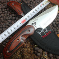 Top military knife quality OEM Buck knife pocket camping hunting knife fixed blade survival outdoor small straight knife