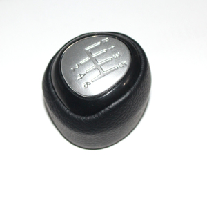 Image 2 - 5 and 6 Speed Car Shift Gear Knob Covered Real Leather For SAAB 9 3 2003 2004 2005 2006 2007 2008   2012