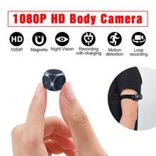 Minicâmera magnética ultra 1080p hd, gravador de áudio e vídeo com visão noturna, suporte oculto cartão do cartão