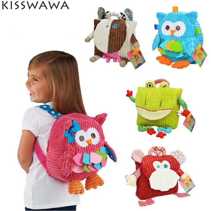 KISSWAWA Baby Food bag Storage Box zoo Snack Bags Portable plush Bag Children Packing Food Picnic Bags FS010-FS014