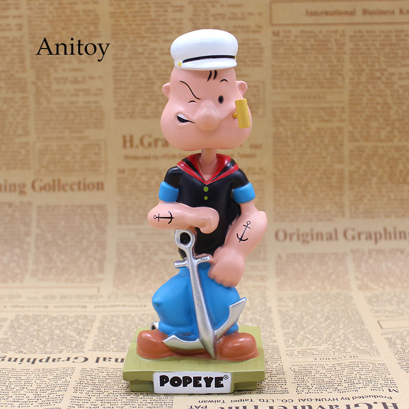 Popeye The Sailor Man Wacky Wobbler Bobble Head PVC Action Figure Collection Toy Doll 17CM with Retail Box funko pop marvel loki 36 bobble head wacky wobbler pvc action figure collection toy doll 12cm fkg120