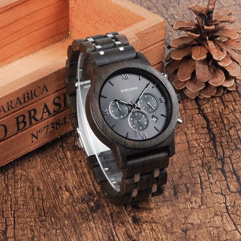 BOBO oiseau L-P19 haute qualité haut tendance marque de luxe Sport montres bois hommes Designer Quartz Orologio OEM Hombres Relojes - 3