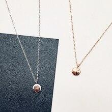 Lucky Golden Bean Clavicle Chain корейские простые универсальные 925 пробы серебряные темпераментные женские ожерелья SNE042