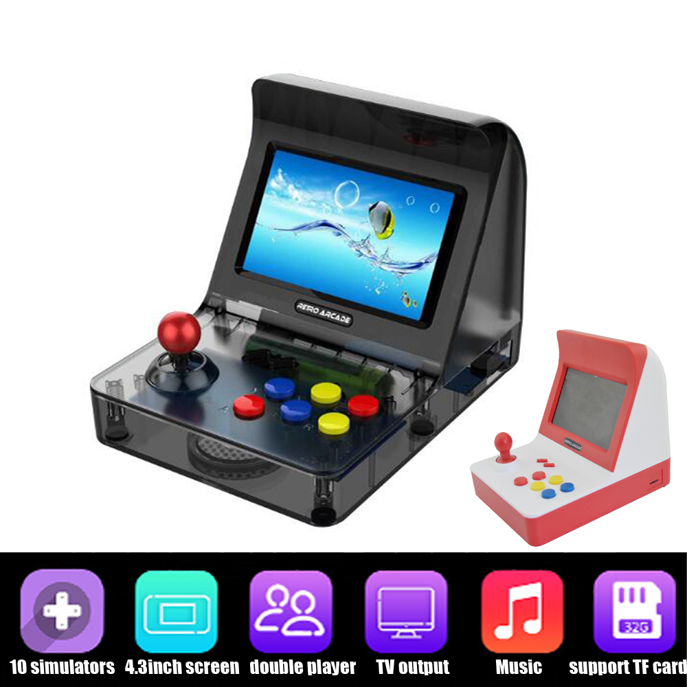 Portable Retro Mini Handheld Game Console 4.3 Inch 3000 Video Games classical retro arcade game console цена и фото