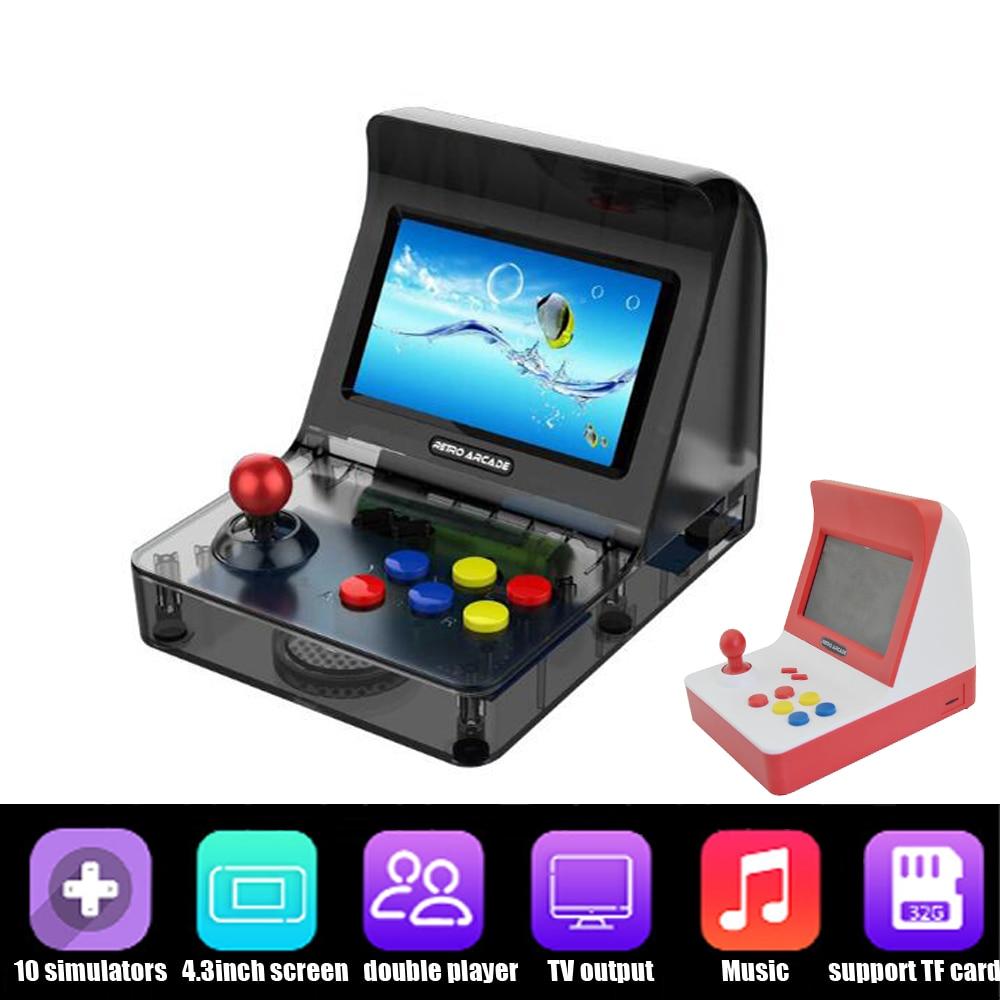 Portable Retro Mini Handheld Game Console 4.3 Inch 3000 Video Games classical retro arcade game console