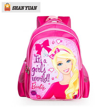 2016 New Nylon Children Backpack Barbie School Bags For Girls Kids Backpacks Schoolbag Mochilas Large Capacity For Age 5-12