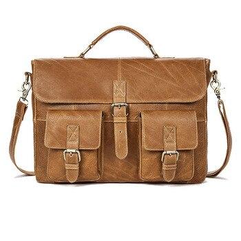 89f1d71e8e3b Joyir натуральная кожа деловой мужской портфель сумка для ноутбука  коричневый портфель мужской повседневный Натуральная воловья деловая