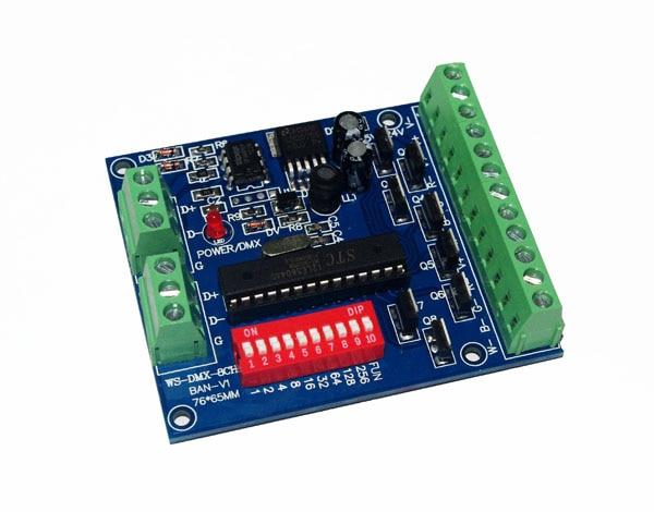 RGBW 8-csatornás DMX vezérlő 2 csoport, RGBW 8CH dekóder LED-es - Világítási kiegészítők