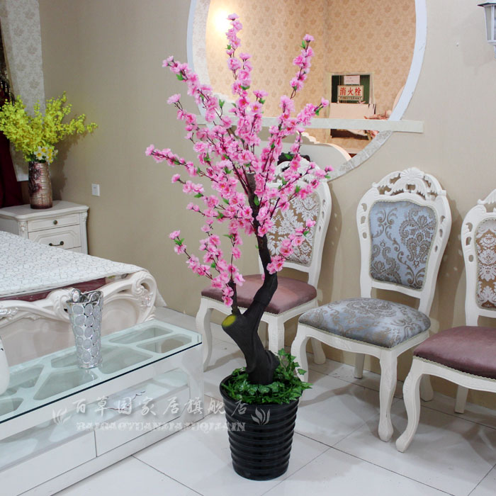 artificial plants for living room paint the french bowyer rustic peach tree cherry decoration flower silk