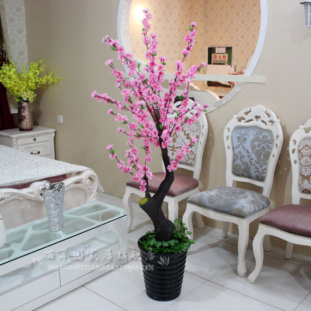 Artificial Plants French Bowyer Rustic Peach Tree Cherry Tree Living Room  Decoration Artificial Flower Decoration Flower