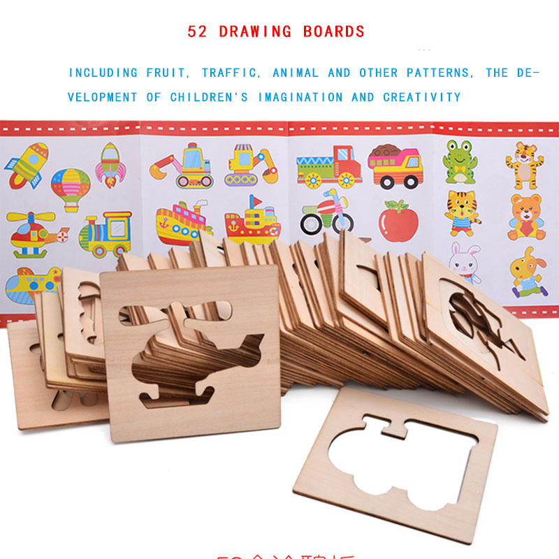 Baby Toys Wooden Drawing Board Sets Educational Toys with Animals ...