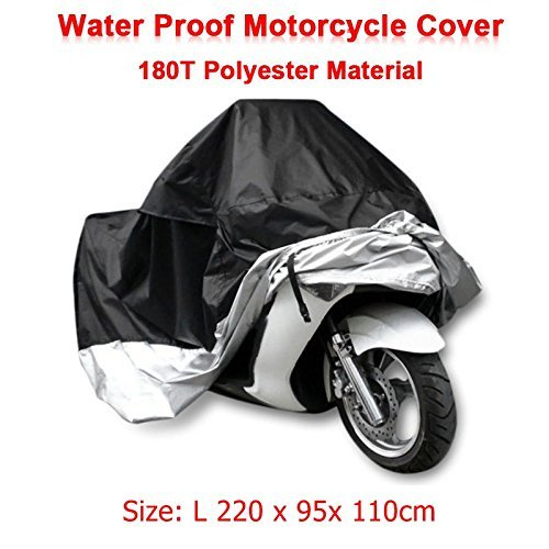 Size L 220 x 95x 110cm Motorcycle Covering Waterproof Scooter Cover UV resistant Heavy Racing Bike Indoor Outdoor Cover L
