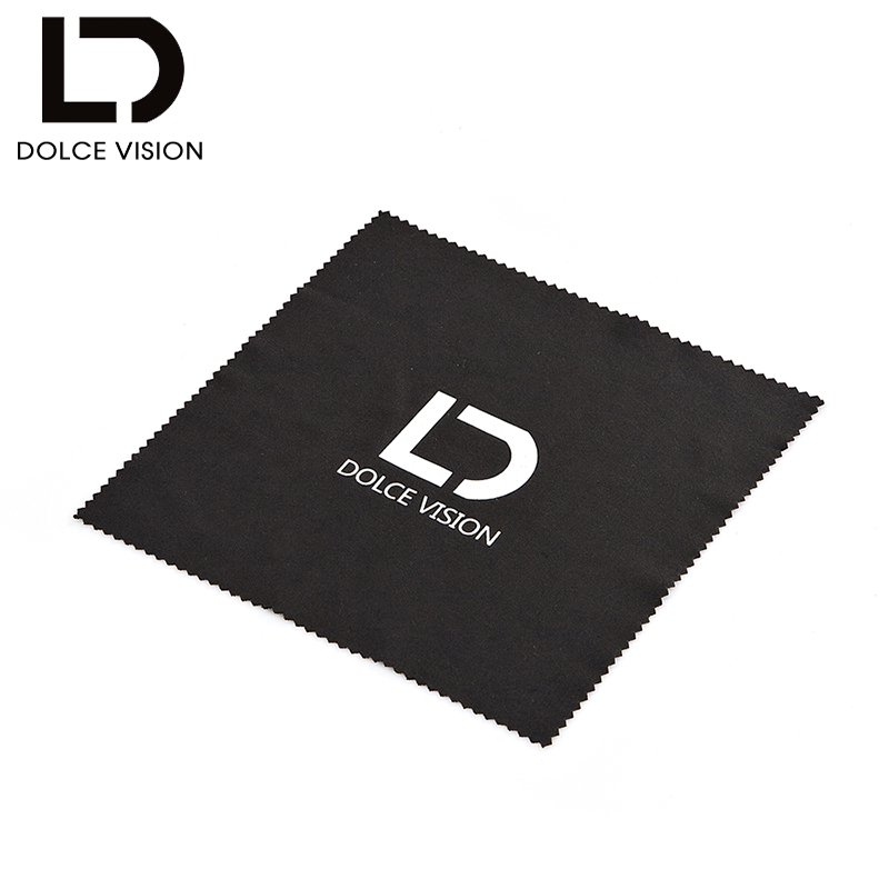 DOLCE VISION Black Sunglasses Hard Cases Women PU Leather Fashion Glasses Box Brand Zipper With Lens Cloth Polarized Test Card