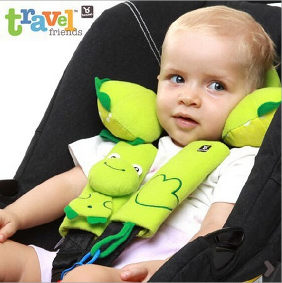 Benbat Infant Baby Travel Neck Support Pillow Seat Belt Strap Cover