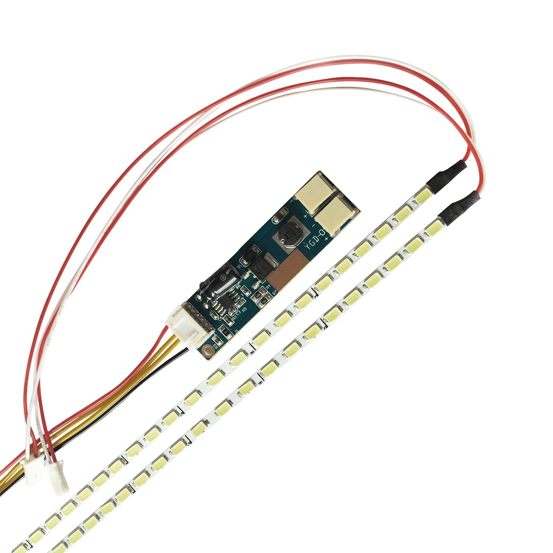 Kit de mise à jour universel de lampes de rétro-éclairage LED à intensité variable lumière LED réglable pour moniteur LCD 2 ampoules LED
