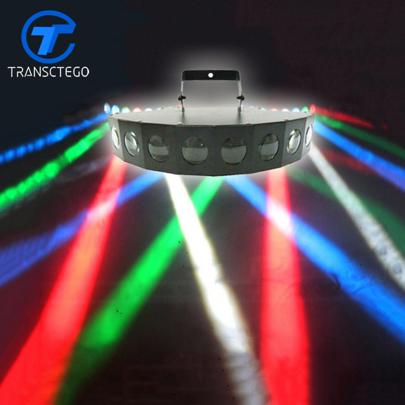 8 Lighting Heads Stage Light Led Laser Light For KTV bar Sound Control Performance Colorful Stage Lamp