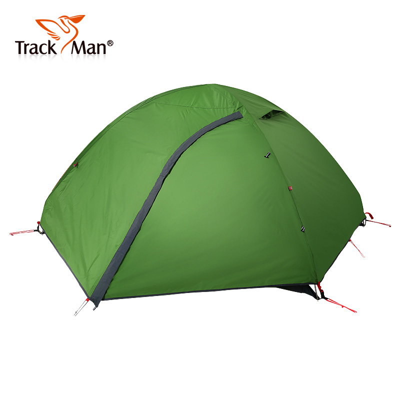 Trackman Camping Tent 2 Person One Bedroom Double Layers 3 Season Tent Outdoor Tent- TM1209 high quality outdoor 2 person camping tent double layer aluminum rod ultralight tent with snow skirt oneroad windsnow 2 plus