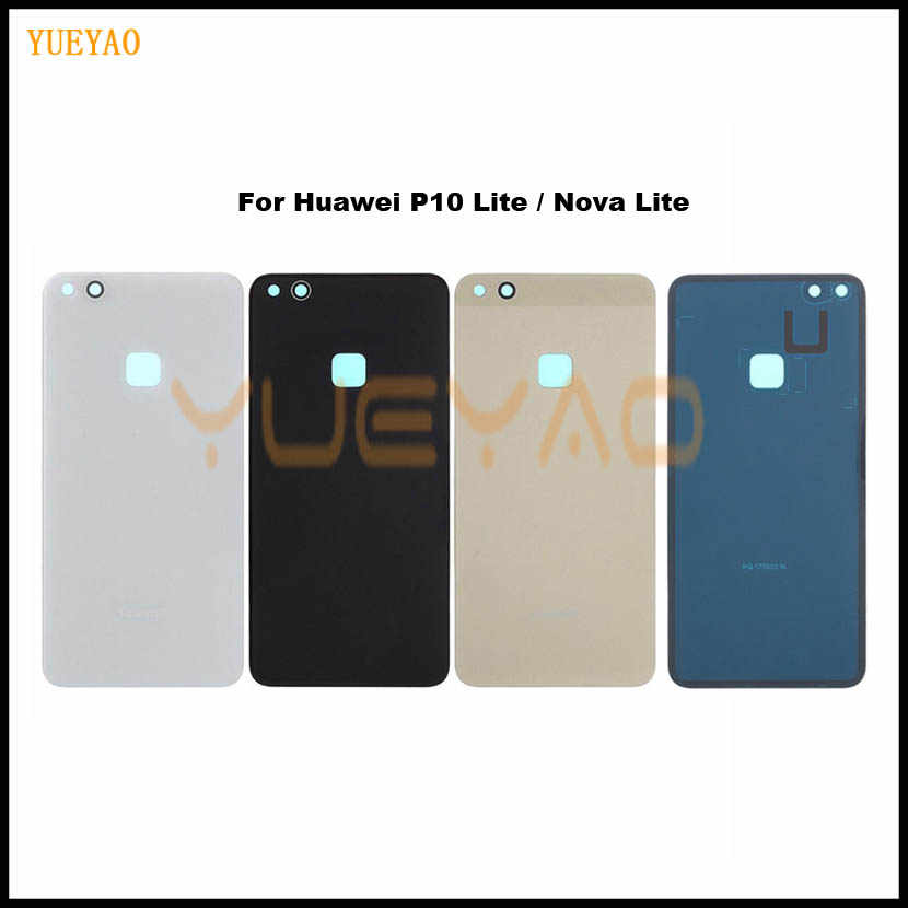 Battery Back Cover For Huawei P10 Lite Door Case For HUAWEI P10 Lite Housing Replacement + Back Camera Glass Lens Case