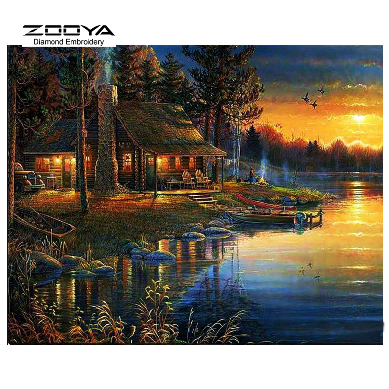 Showing Media  Posts for Paintings of log cabins at sunset  www