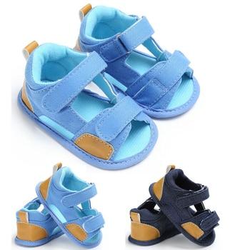 New Unisex Baby Girl Boys Sandals Soft Canvas Baby Sandals Anti-slip Suede Soles Clogs Newborn Kids Children Summer Sandal Clog сабо kids swiftwater clog