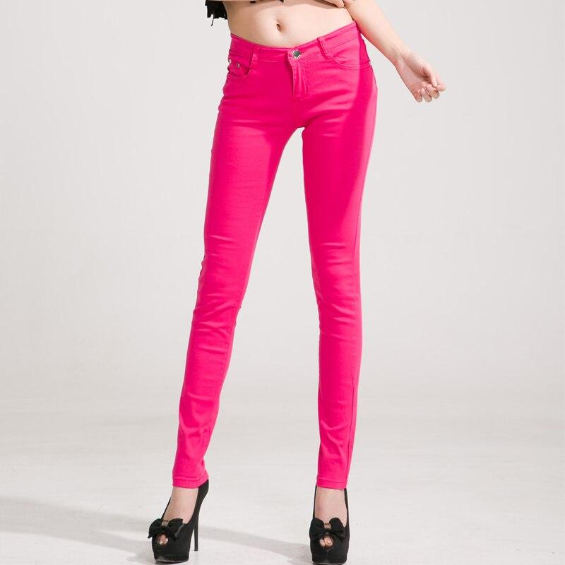 dacd1d439b6  Guoran  Candy Color Women Jeans Pencil Pants Plus Size Stretch Jeans  Leggings Female Trousers
