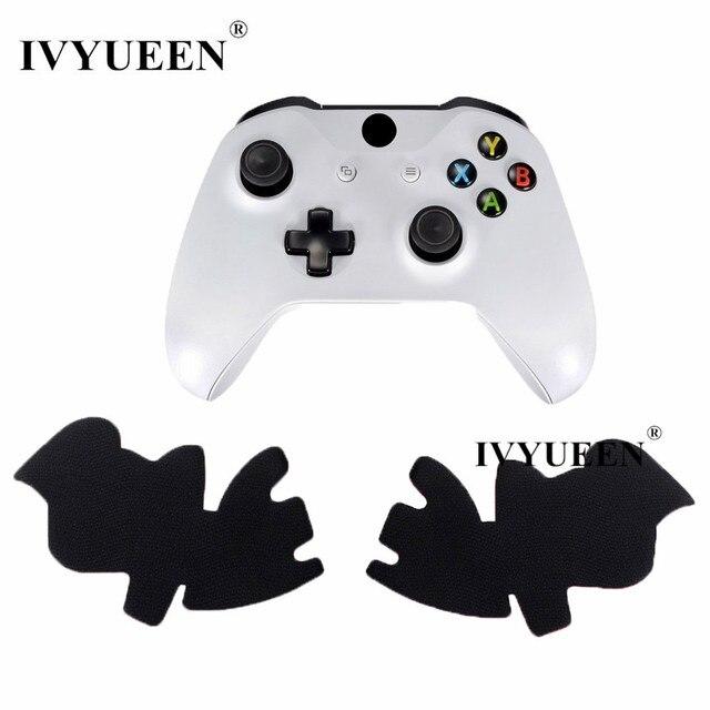 IVYUEEN Black Anti-slip Left & Right Grips Decal Skin Sticker for Xbox One S Slim Controller Smarter Superior Hand Grip