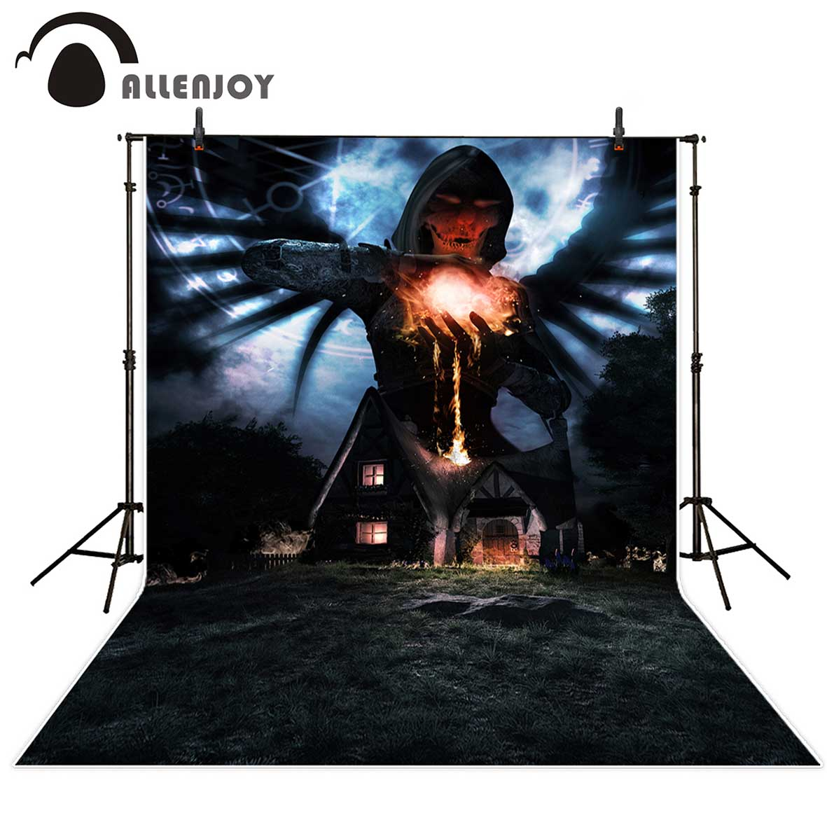 Allenjoy photography backdrops Magic wizard house horrible magic array fire Background for a photo for kids photo booth backdrop
