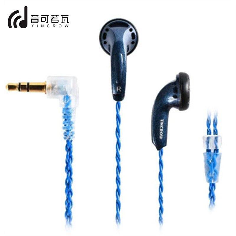 YINCROW RW 9 In Ear Earphone Earbud Flat Head Plug Earbud Metal Earphone Headset MX500 Earbud HIFI Bass Sound Quality