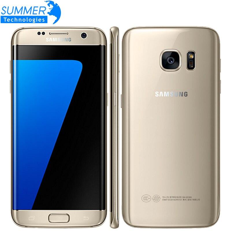 D'origine Samsung Galaxy S7 Bord LTE Mobile Téléphone G935F & G935V 5.5 4 gb RAM 32 gb ROM 12.0MP caméra NFC Smartphone