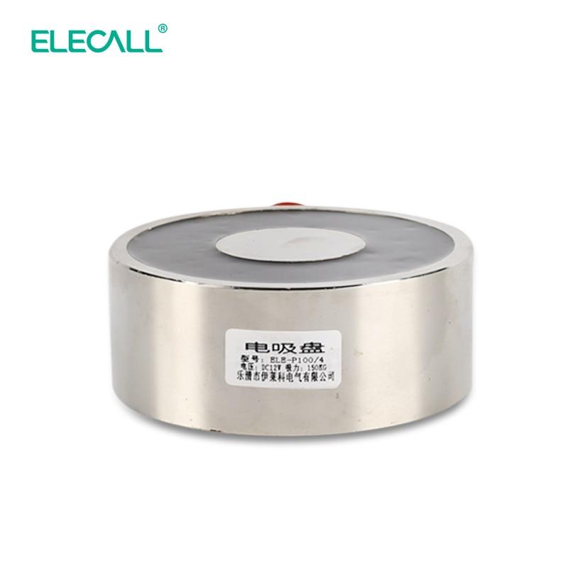 все цены на CE Approved DC 12v ELE-P100/40 Electromagnet Electric Sucker Lifting Magnet Solenoid Lift Holding 150kg