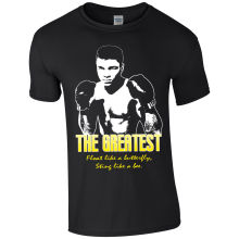 Mens Muhammad Ali The Greatest Boxer Iconic T-shirt S-XXL стоимость