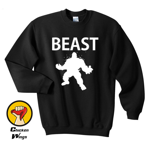 Beast Workout Crewneck Sweatshirt Unisex More Colors XS 2XL in Hoodies amp Sweatshirts from Women 39 s Clothing