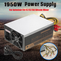 Leory 1950W Switching Miner Mining Dedicated Power Supply For Antminer S9/S7/A7/A6 Bitcoin Miner Computer Power Supplies For BTC