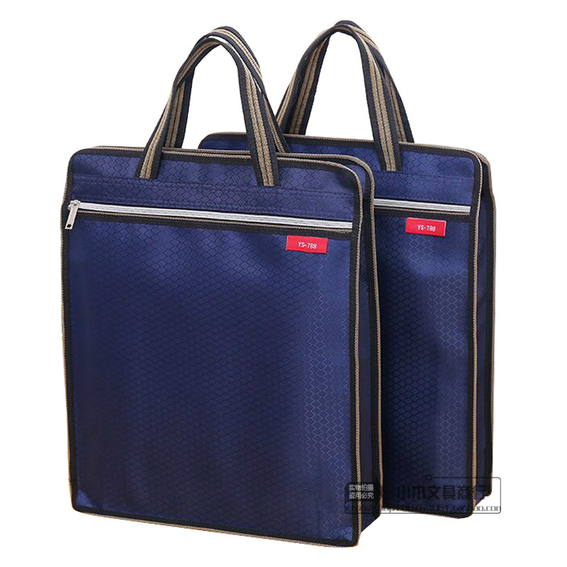 High quality polyester large capacity A4 file data storage holder document bag zipper folder filling products office supplies high quality large capacity portable a4 document bag durable stationery business files organizer school office supplies