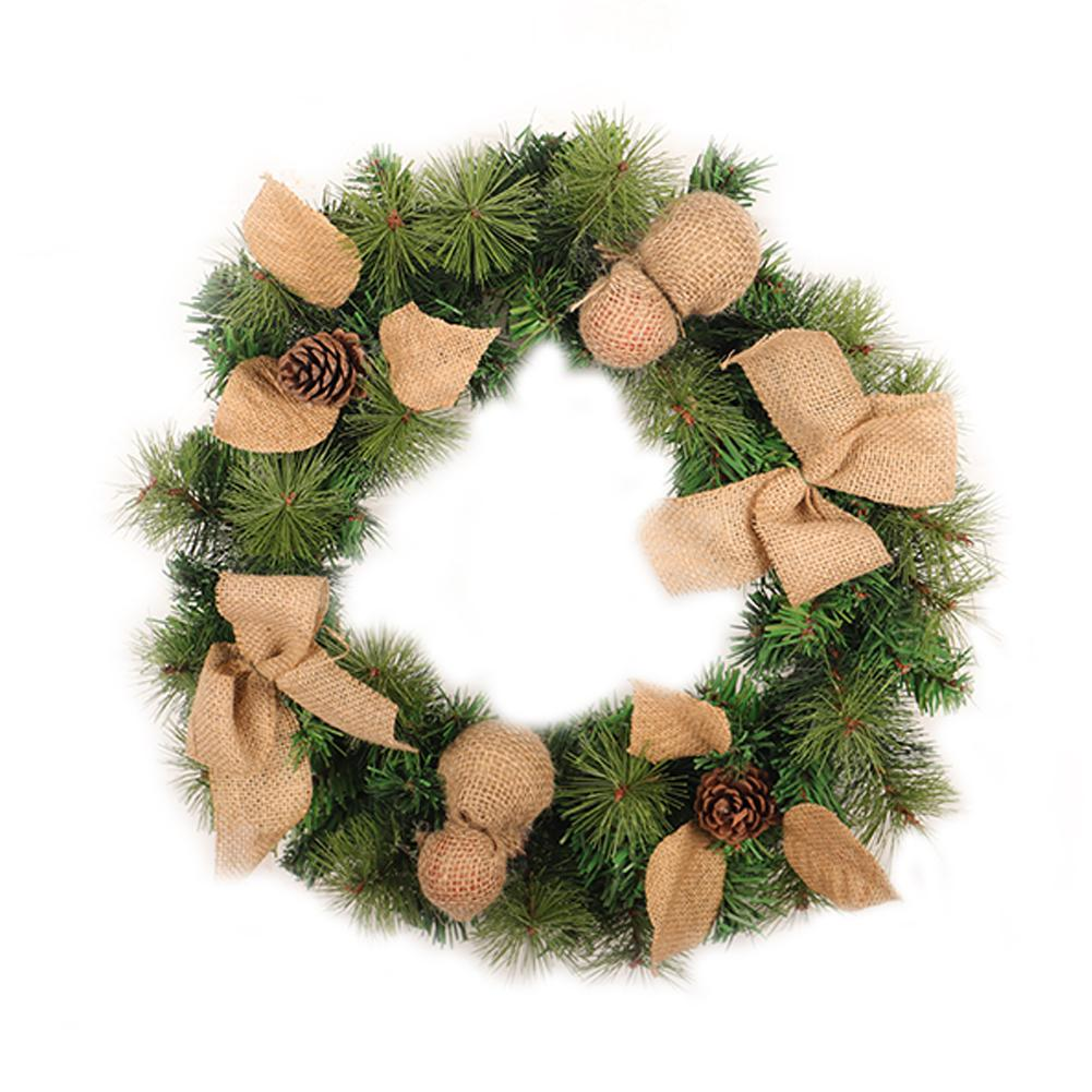 2018 New PVC Linen Christmas Wreath Home Window Hotel Shopping Mall Decor Door Pendant Wreath Holiday Supplies